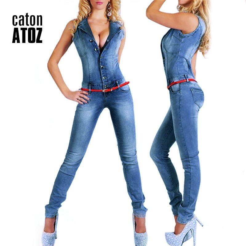 New Arrival Sleeveless Jumpsuit Jeans Sexy Bodysuit Women Denim Overalls Rompers Girls Pants Mom Jeans Ladies LJ200814