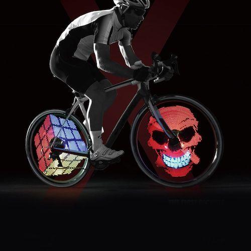 Xuanwheel x1 roue de vélo coloré parlait la lumière