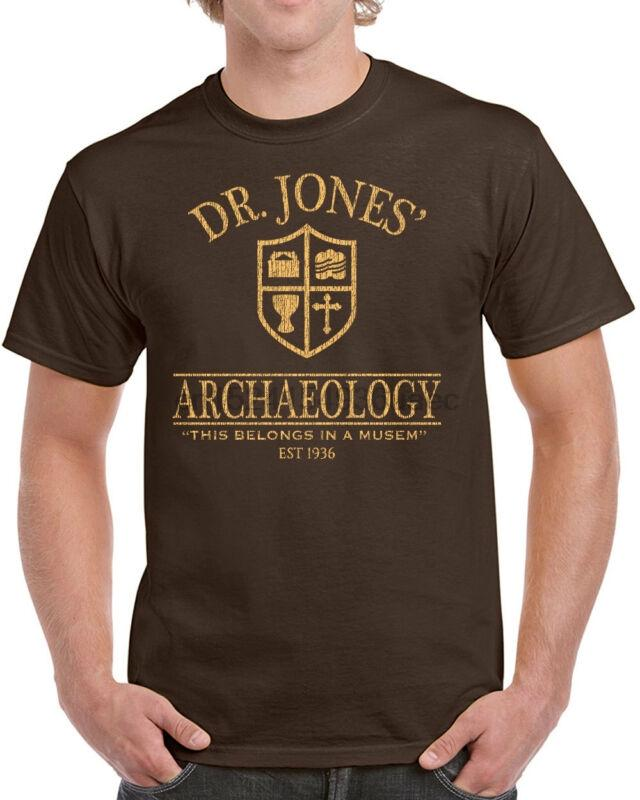 492 Dr. Jones Archaeology Mens T-Shirt Funny 80s Movie Costume Party Indiana New