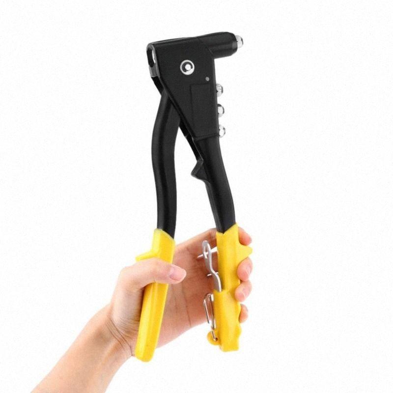 Universal Manual Heavy Duty 2-Way Mão Riveter Rivet Gun Rebitando Pull Cap Gun Rivet Household Mão Ferramenta 6eTz #