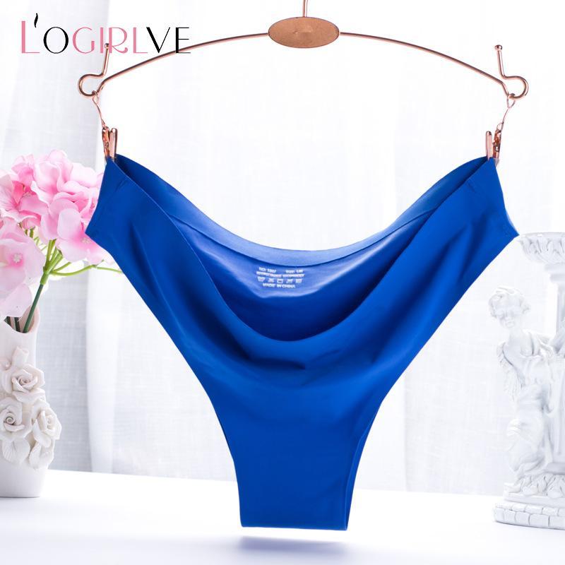 Logirlve Bayanlar Buz İpek Dikişsiz Külot Katı Nefes Düşük Rise Külot İç Giyim Yeni Geliş Çok renkli Seksi İç Giyim