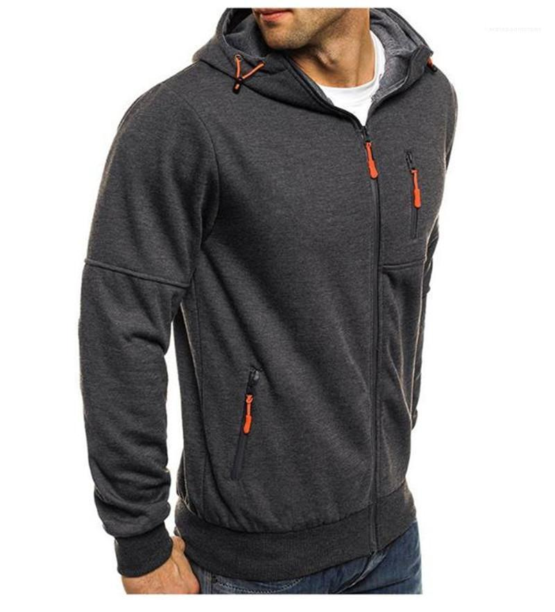 Chaqueta de color natural con cremallera Casula Zipperl delgado del cuello de la chaqueta gruesa ropa para hombre para hombre del diseñador de moda de la chaqueta