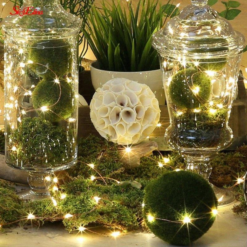 05.02 / 10 Meter LED-Stern-Schnur-Licht-Streifen-Silber-Draht-Fee-warmes Weiß Garland Startseite Weihnachten Hochzeit Dekoration 6z w65G #