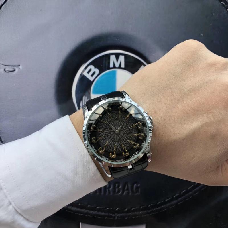 askeri spor mens izlemek kuvars 45mm Yuvarlak Masa lüks erkek izle moda tasarımcısı kaliteli 12 Şövalyeleri EXCALIBUR saatler