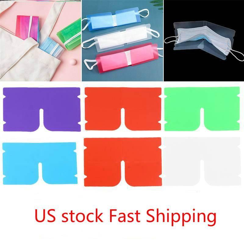 US Stock DHL Schiff Tragbare Gesichtsmaske Aufbewahrungsklammer Kunststoff Mini Faltbare Halter Container Candy Bunte Aufbewahrungskoffer Staubdicht FY8020