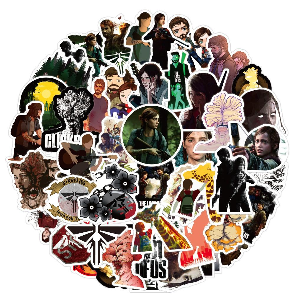 50 PCS Mixed Car Stickers The Last of Us Game For Skateboard Laptop Fridge Helmet Pad Bicycle Bike Motorcycle PS4 Notebook Guitar PVC Decal