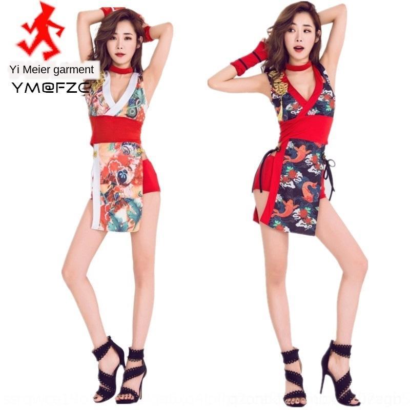 5lOSd New bar cheongsam ninja roupas combate a barra de roupas de estilo estágio sexy cantora terno estágio terno desempenho cosplay