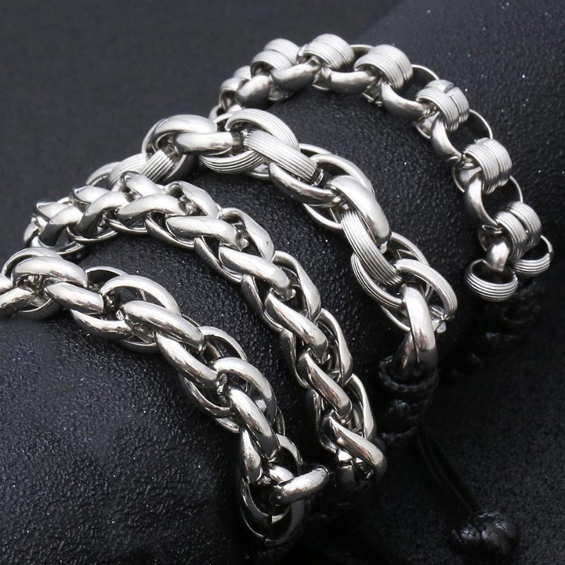 10MM echtes Leder Seil geflochtene Armband-Mann-handgemachte justierbare Armband DIY Edelstahl-Schmuck-Armbänder für Frauen-Geschenk
