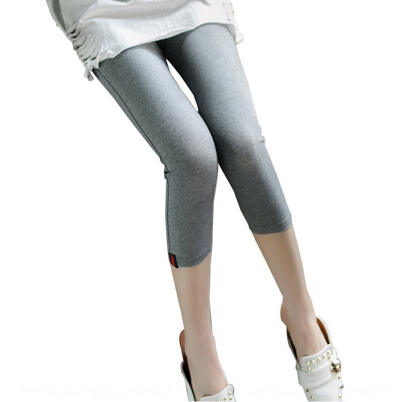 2020 neue enge Shorts und enge Oberbekleidung Sieben-Punkte-große hohe Taille Shorts Sommer dünner Baumwoll mittlere Hosen der Gamaschen Frauen sieben-p