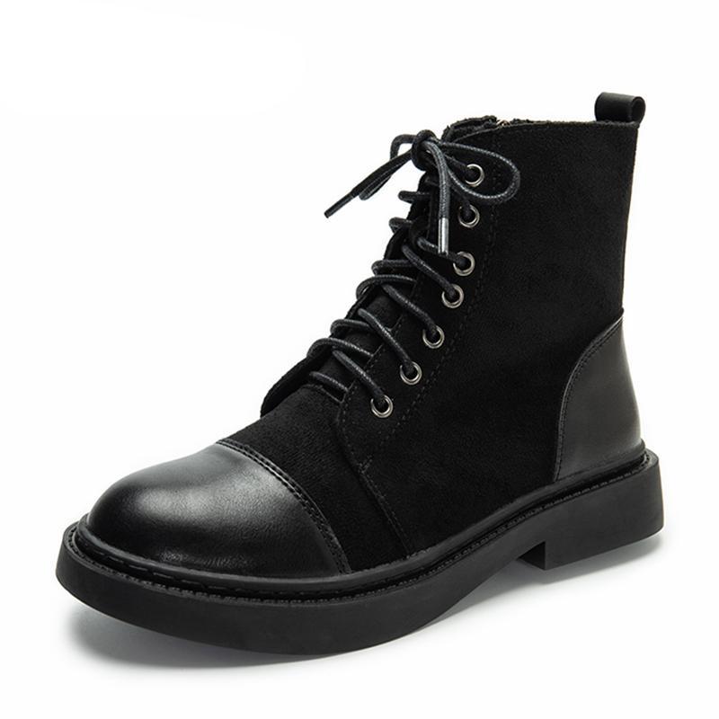Inverno camurça botas de couro Mulheres Botas de qualidade confortável macios sapatas do desenhador 2020 botas marrons pretas