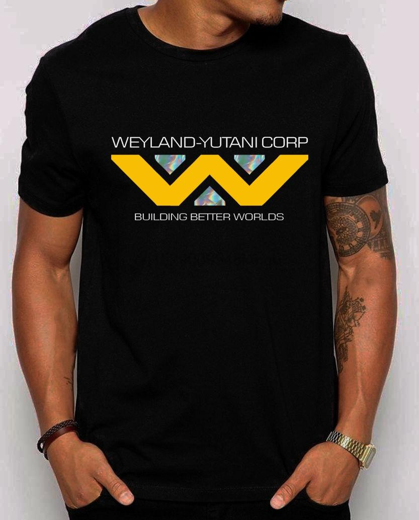 Aliens - Weyland - Yutani Corp Logo Unisex T-Shirt. Holographic Design Shirt Male Hip Hop Lustige T-Shirts Wholesale billig