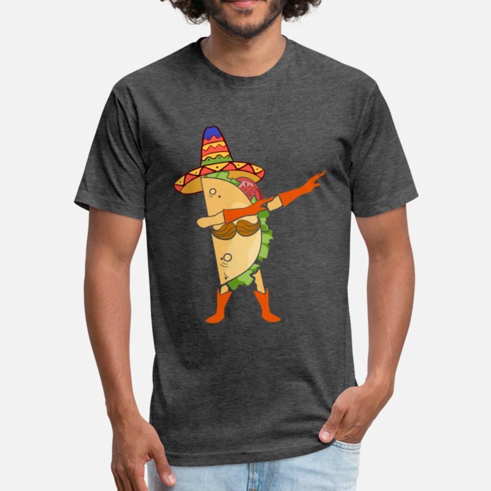 Taco dabbing regalo Food Fiesta diversión de los amigos del amor de hombres de la camiseta Personalizado 100% algodón S-XXXL de la camisa fresca luz del sol Edificio Primavera Carta