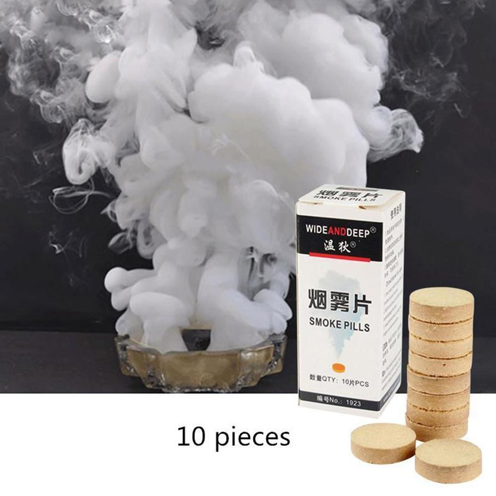 10 pieces / box of white smoke tablets Halloween photography aid decoration tools props party DIY decoration Free Shipping