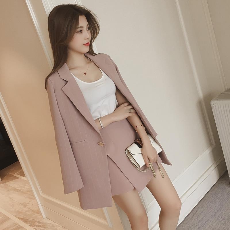YjTdT coreano moda stile casual piccolo vestito corto femminile gonna gonna corta a tre pezzi elegante vestito