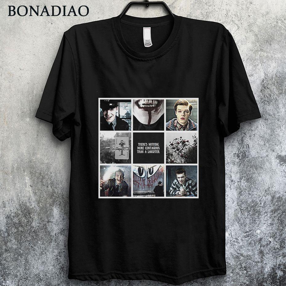 Populares Gotham Joker Estética Jerome Valeska camiseta unisex Camiseta del tamaño grande de la camiseta