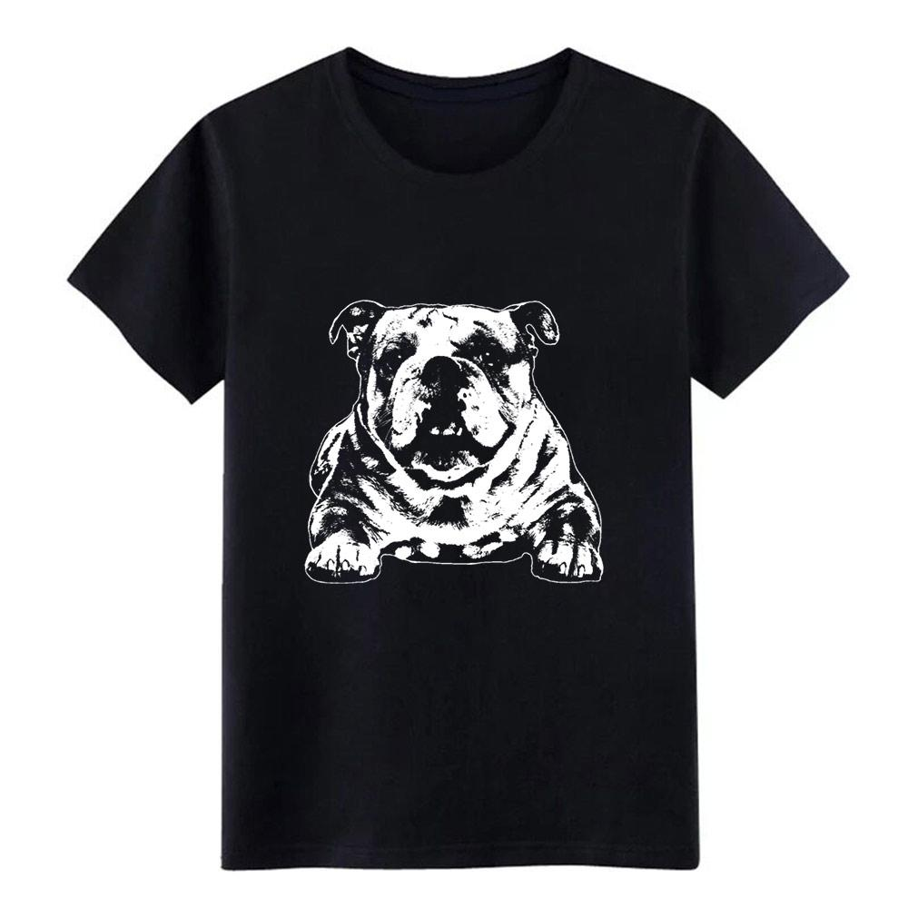 Английский бульдог тенниски мужчина Designs футболочки плюс размер 3XL Kawaii Сумасшедшей Смешной Весна Оригинального рубашку