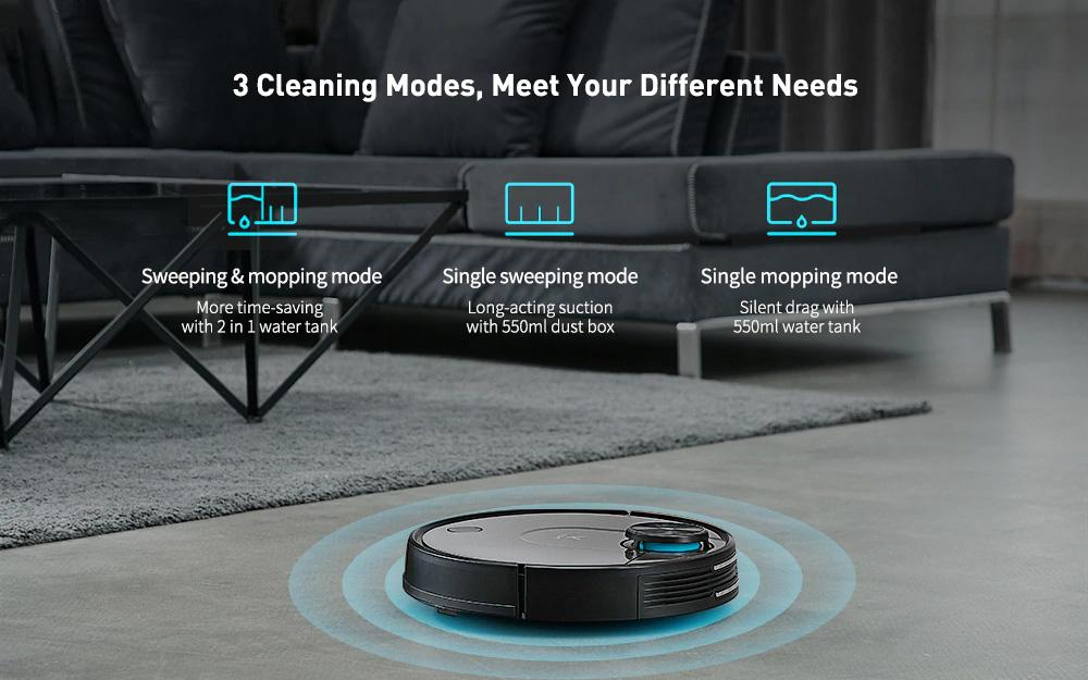 VIOMI V2 Pro 2 in 1 LDS + SLAM robot aspirapolvere per la casa, Wet and Dry Sweep