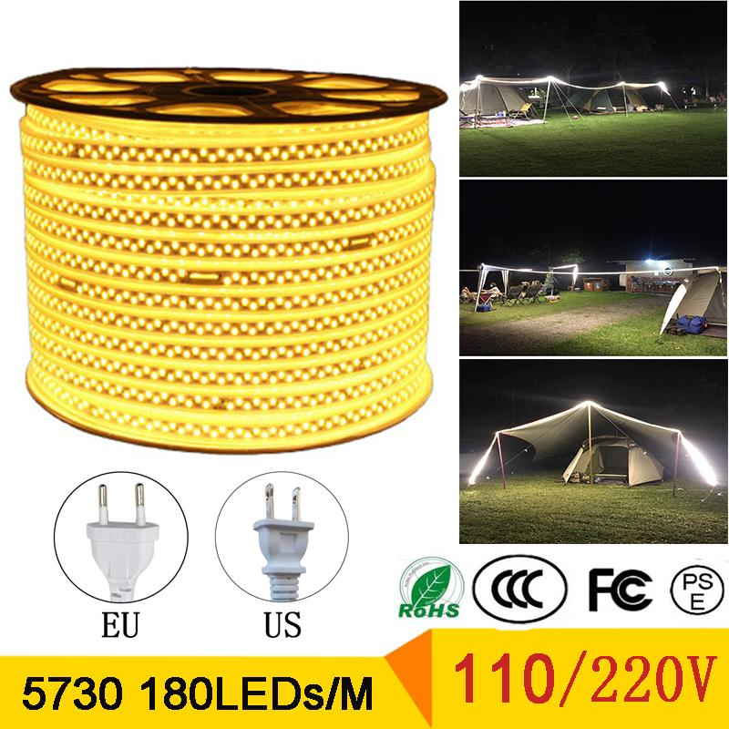 Franja LED SMD 5730 180leds AC110V 220V Ingeniería Especial LED Luz IP67 Impermeable Neón Lámpara LED Lámpara Flexible