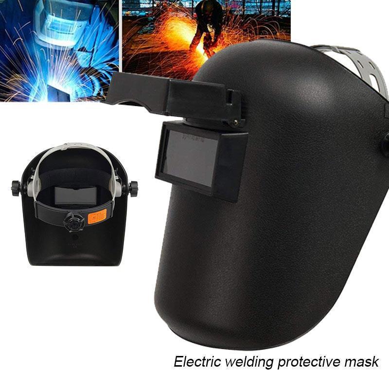 Preto Welder Máscara Anti-UV contra iscas de protecção Soldagem Capacete de solda Slag Mars respingo ajustável Flip Up Lens Grinding