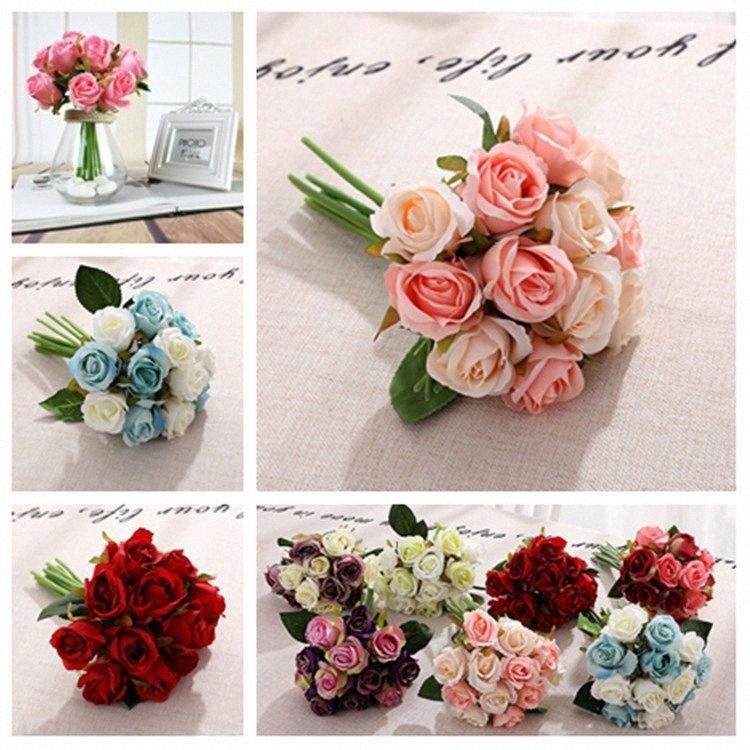 10 estilo de rosas artificiais flor do casamento Centerpieces vestido da noiva decorativa Flores Simulação 1lot / 12pcs Fontes do partido 20pcsT2I5489 FUeP #