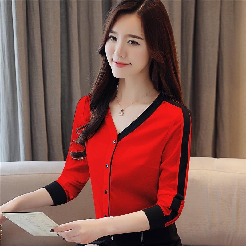 krJc1 chemise automne vêtements d'extérieur nouveau créneau design manteau des femmes de style occidental sens petit 2020 en mousseline de soie à manches longues Femmes Manteau chemise Tfwae