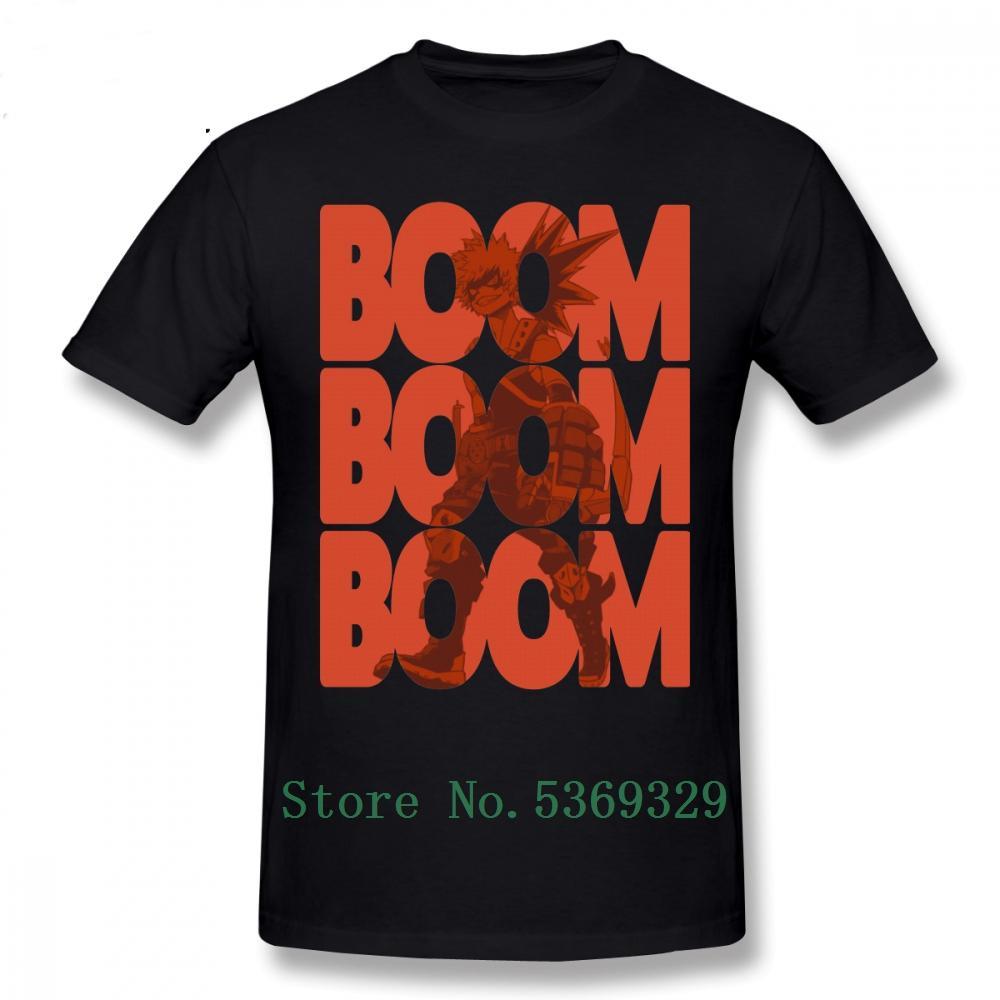 Bakugou Tişörtlü Bom Bakugou Katsuki Tişört Man Kısa Kollu Tee Gömlek Casual Müthiş Baskılı Artı boyutu Tişörtü