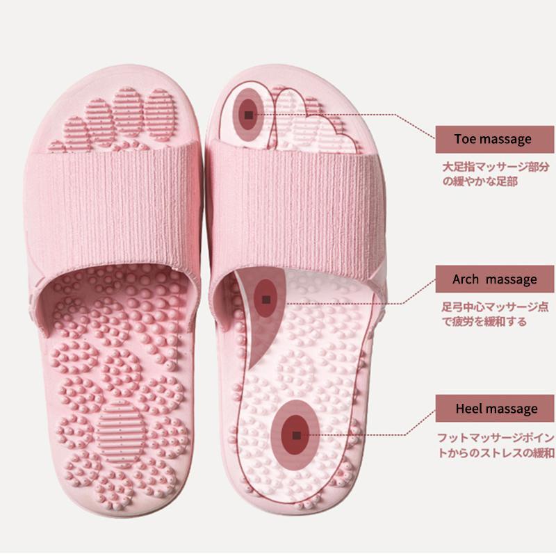 Kaymaz Kadınlar Masaj Terlik Yaz Moda Kapalı Açık Ayaklı Kadın Ayakkabı Plaj Banyo Terlik Erkekler Slide Flops