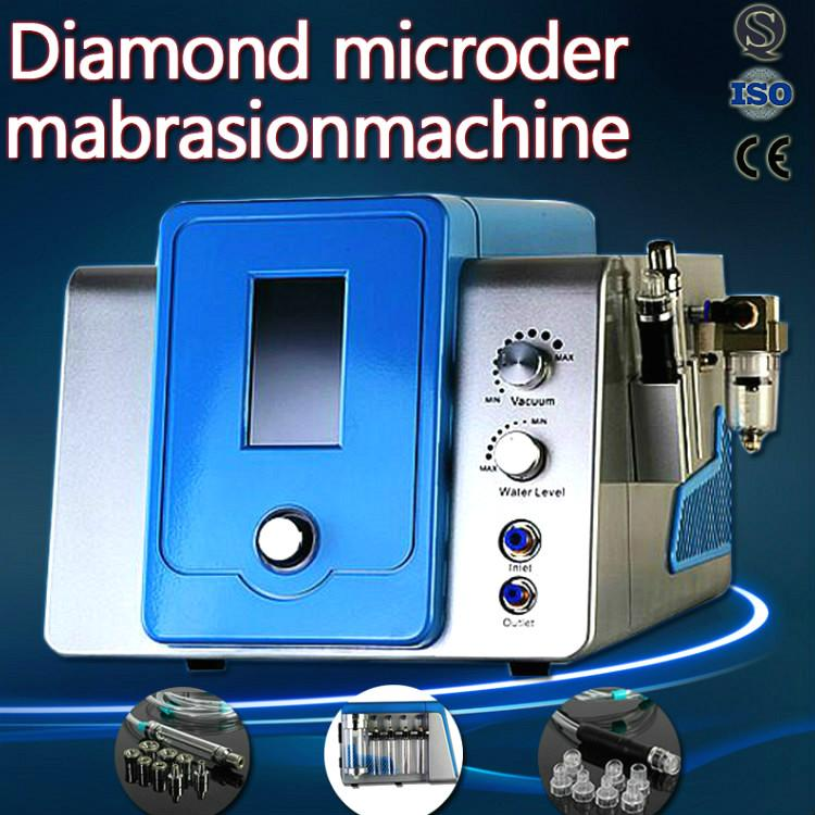 Strong vacuum Crystal Microdermabrasion Machines With 9 Pcs Diamond Tips For Derma Peeling Skin Cleansing Machine For Salon Spa Use Portable