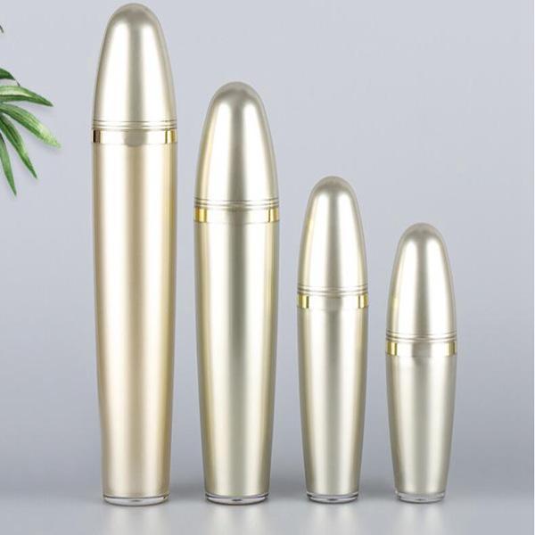 Botella de prensa hidratante de la botella de lotión de acrílico de oro 30ml50ml100ml
