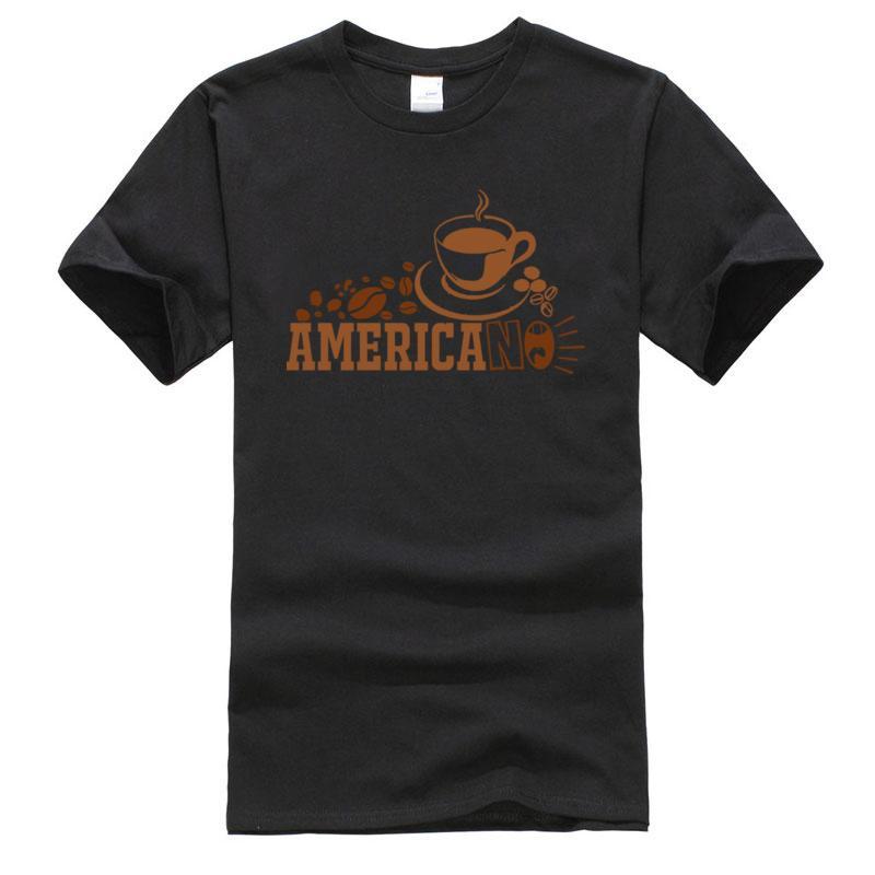 Carta café americano Camiseta ingeniero mecánico Padre T-shirt 100% de algodón para hombre camisetas de manga corta casuales