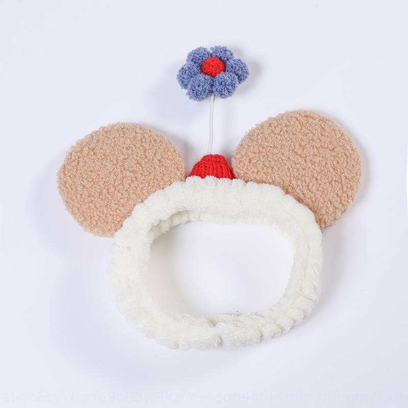İnternet ünlü Şapkalar saç Kız yüz yıkama makyaj saç bandı kadın basit sevimli kız şapkaya saç bandı süper QOnPS QOn cuteheadband