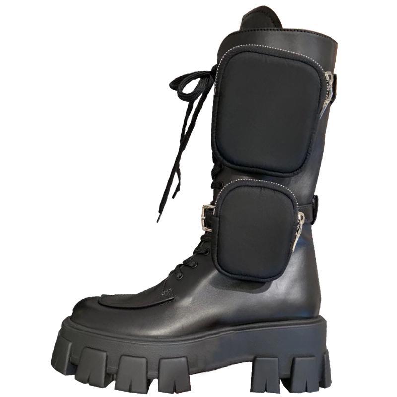 Caliente desinger Venta moda para mujer zapatos zapatos grils Monolito Mini bolsa de la rodilla alta de arranque de arranque de engranajes talón grueso del envío gratis