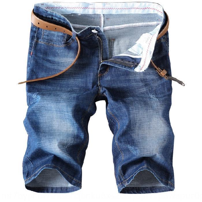 pantalones cortos de mezclilla 2020 verano nuevos hombres delgados recortada tramo recto estilo coreano Nueve hombres pantalones casuales pantalones casuales