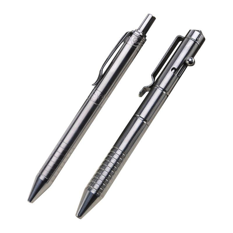 Encre gel en alliage de titane solide Pen Vintage Bolt action outil d'écriture Stationeries