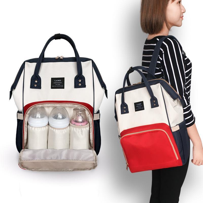 2020 Nuovo Patchwork pannolini per neonati Borse in poliestere di grande capienza Diaper Bag Madre Maternità borsa Hobos zaino Borse Stroller Bag