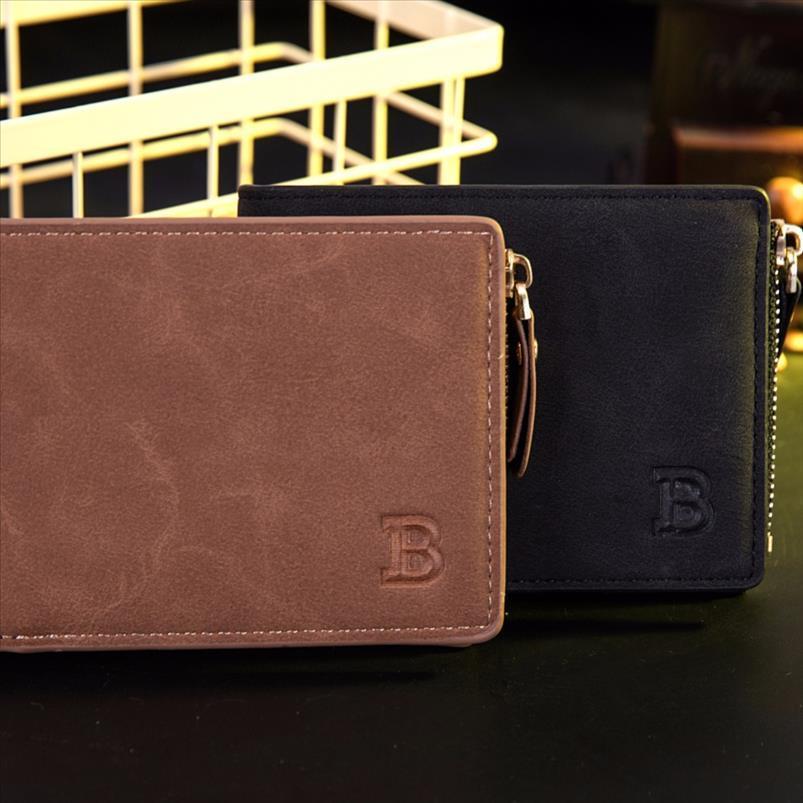 ID geldbörse geldbörse kurze wallter brieftaschen kleine qualität halter schwarz designer mode herren neue kreditkarte high braun münze inrht