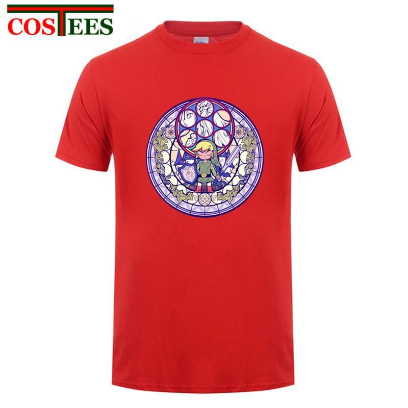 el deporte de moda de verano 2018 El escudo La leyenda de Zelda camiseta camisa de los hombres de manga corta de algodón suave Hombres camiseta Tops T Plus Tamaño 3XL