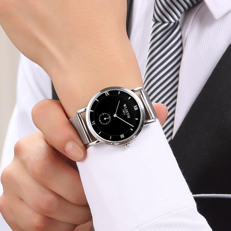Net Gürtel dünnen Uhr der Männer Männliche Studenten koreanische Version der Mode Persönlichkeit kleine Scheibe Business-Gürtel Quarz Freizeitmänner Uhr