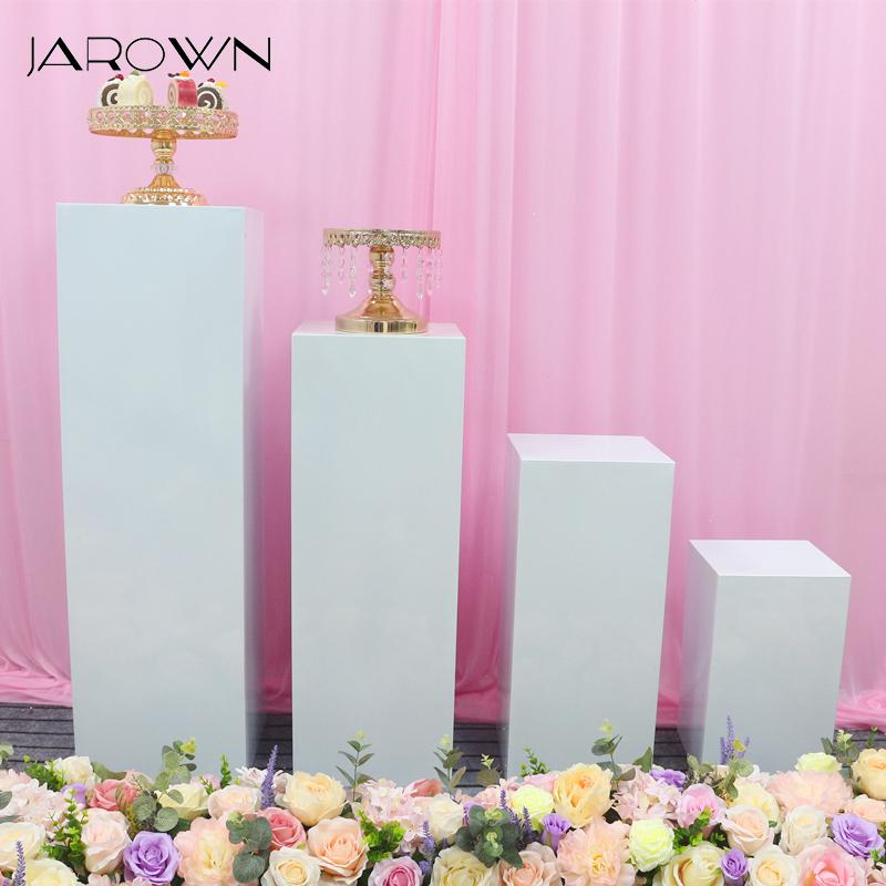 JAROWN Wedding Props Iron Square Dessert Table Cake Shelf Wedding Background Flower Stand Decoration Home Birthday Party Decor
