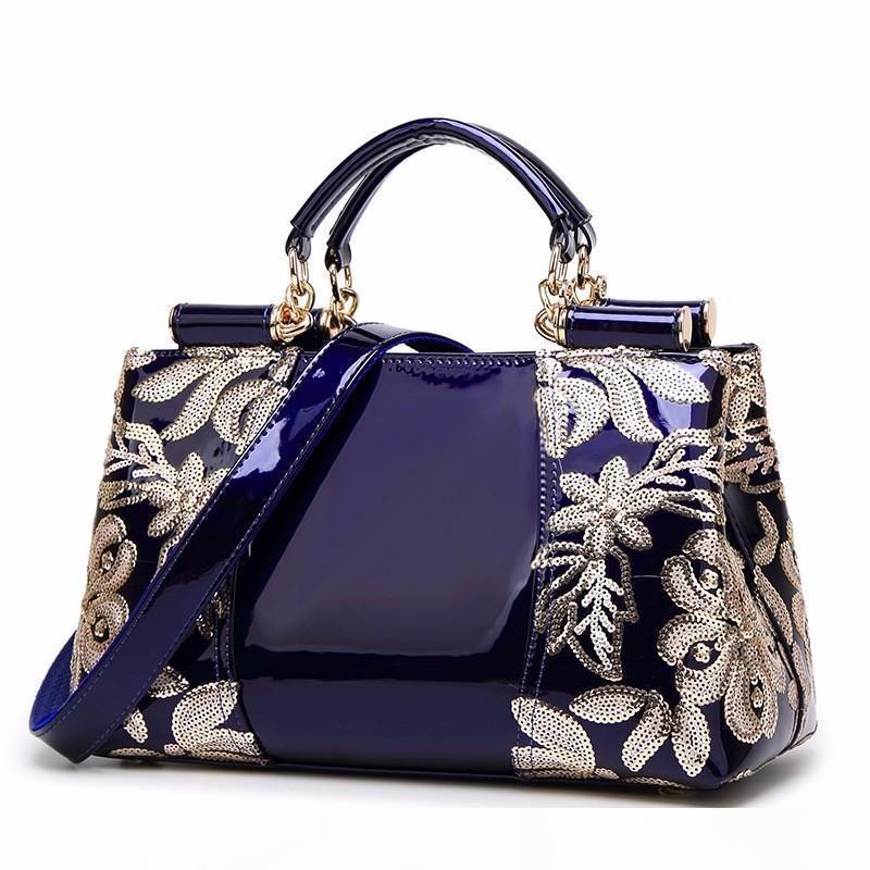 Designer-Luxus-Design Nagellackleder-Umhängetasche Damen Taschen Designer Handtaschen-Frauen-Rahmen Handtasche Große Kapazität Tote