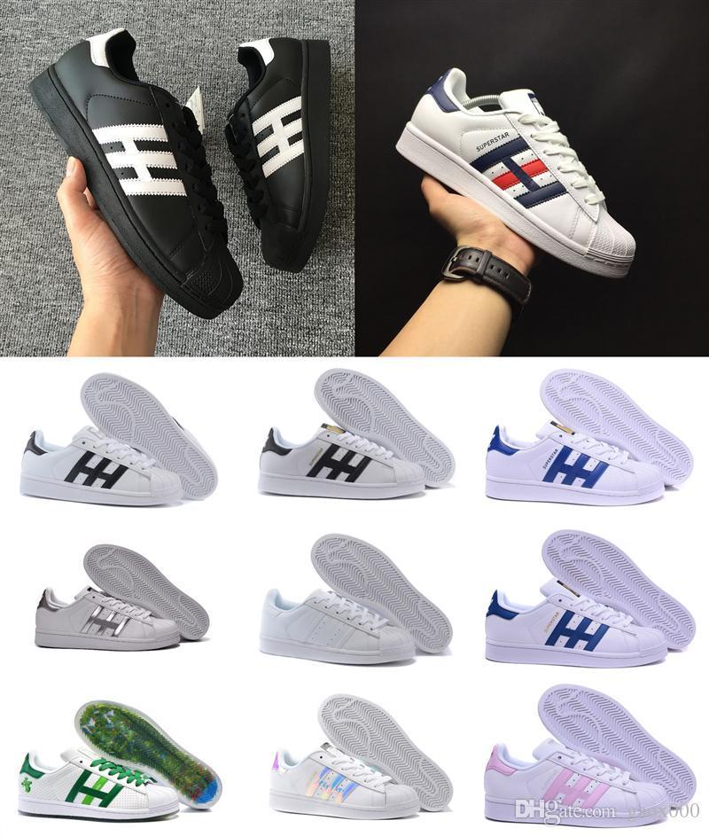 2020 Süperstar Beyaz Siyah Casual ayakkabılar Pembe Mavi Altın Superstars 80'ler Gurur Genç Sneakers Süper Star Kadın Erkek Spor Ayakkabı