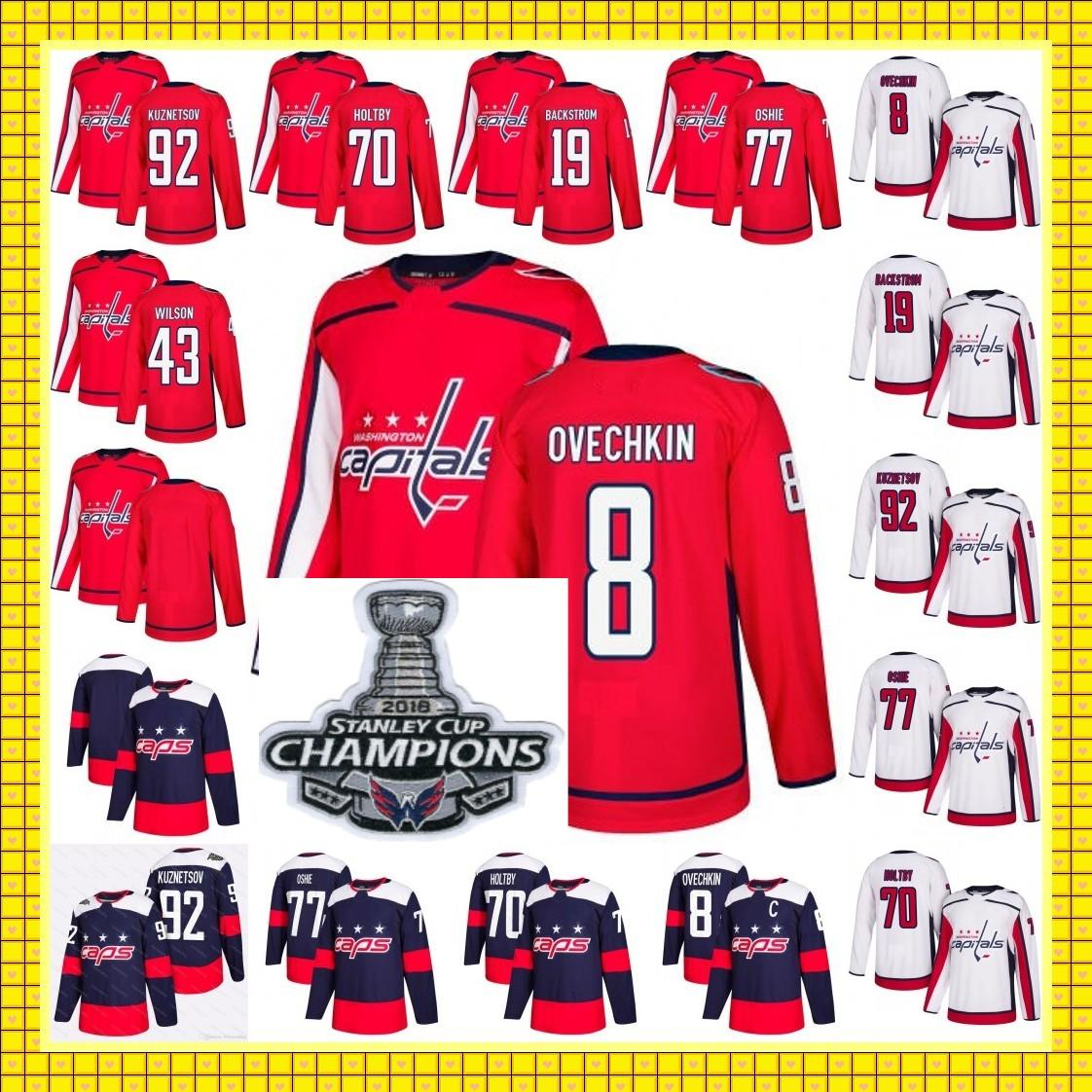 hombres jóvenes mujeres 2018 Stanley Cup Champions capitales Alex Ovechkin Tom Wilson T. J. Nicklas OSHIE