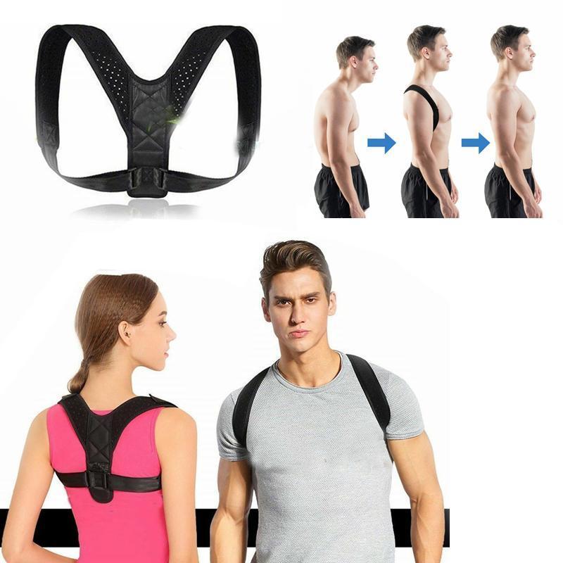 Correttore di posizione Donne Uomini Torna correttore di posizione della cinghia di sostegno regolabile invisibile superiore della clavicola raddrizzatore