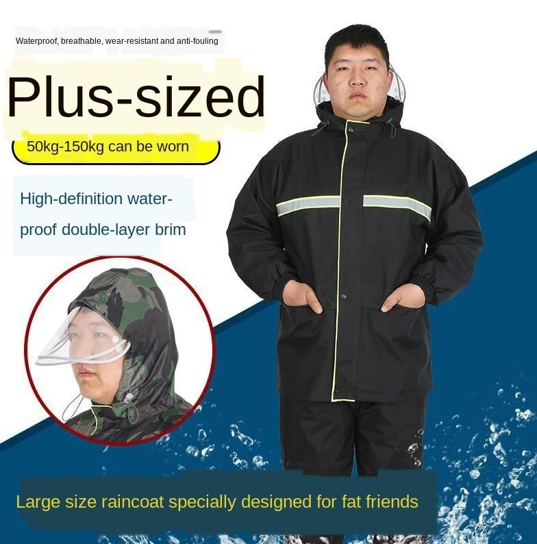 pioggia pantaloni grasso MeYVB Nfopd Uomo più grasso corporeo dell'uomo ispessita ispessimento Uomo 4 / jin addensato dimensioni spaccatura uomo impermeabile adulto più di formato più 5