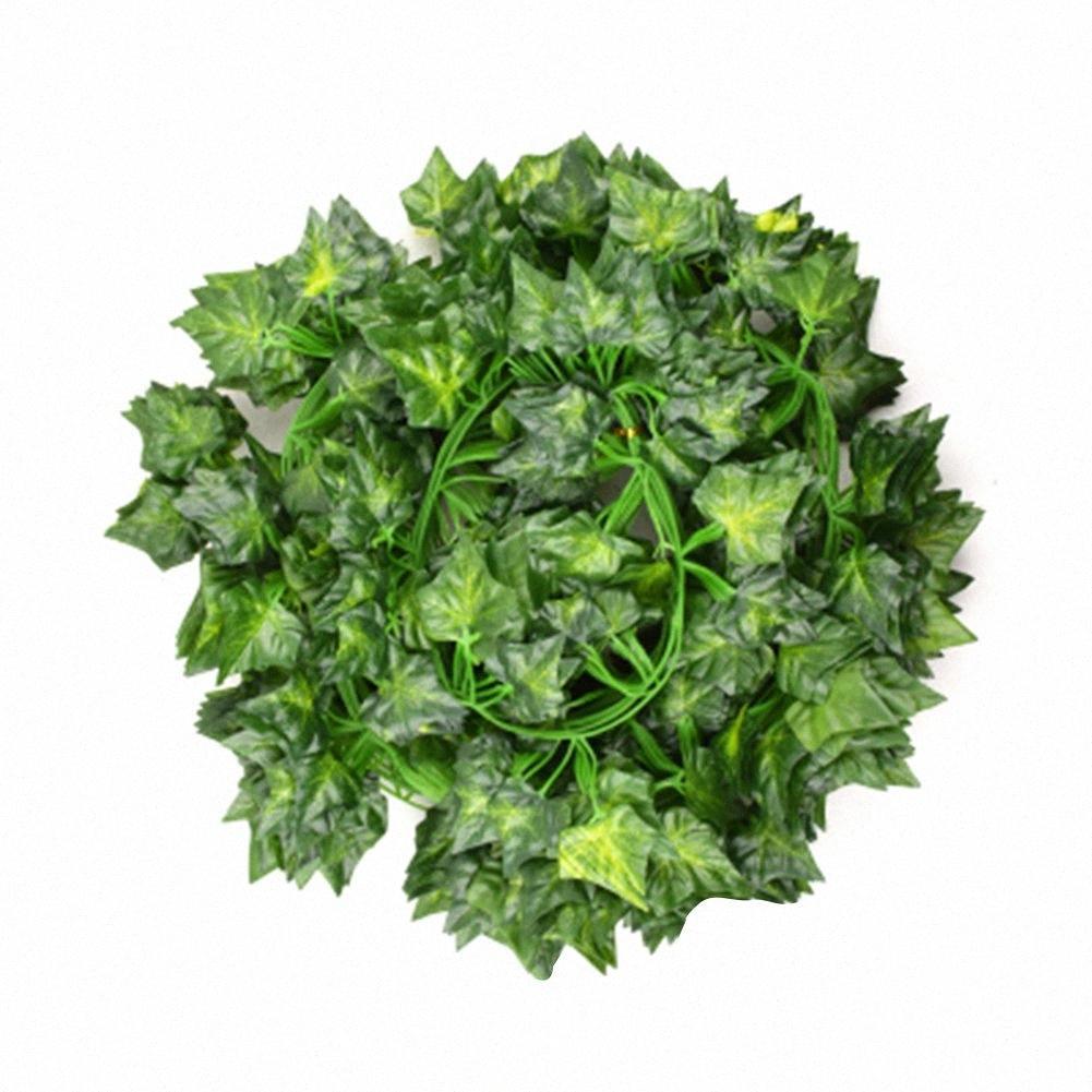 Artificiale edera di seta verde falso Hanging Vines sposa Garland Creeper Foglie - 12Pcs / Set As Shown K1DW #