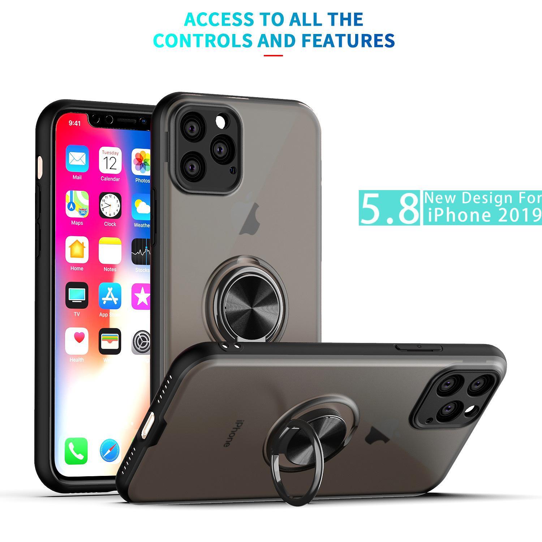 Agradable de lujo de Iphone Caso 11 Pro Max Teléfono con casos imán de anillo de silicona Iphone X XR XS MAX 6 6S PLUS 7/8 Cubierta
