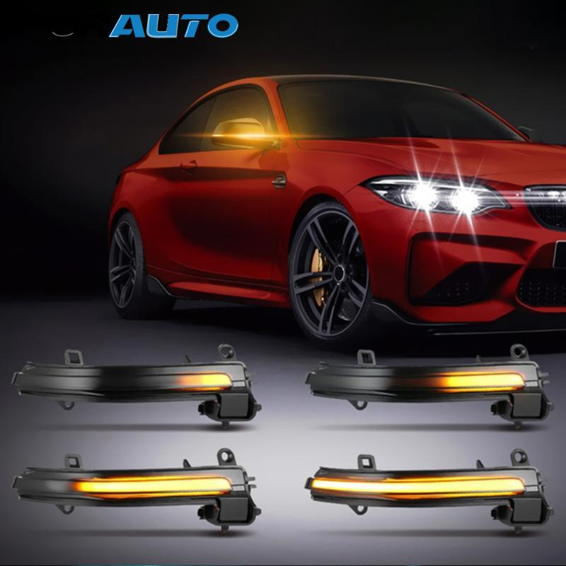 Side Car Ala Espelho Retrovisor Indicador LED Blinker fluindo transformar a luz do sinal para F20 F21 F30 F35 F82 X1 E84 E90 I3 Série 3