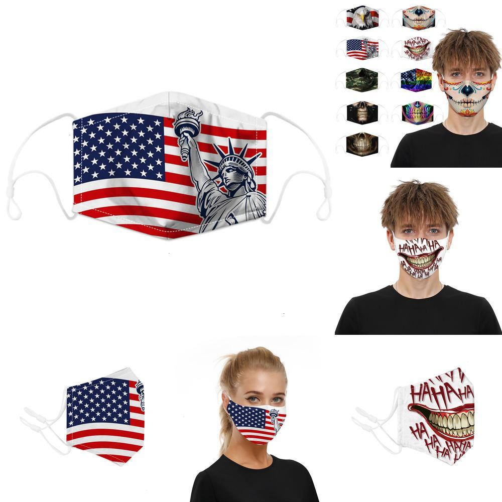 Yüz Yeniden kullanılabilir Yüz Moda Maskeleri Tasarımcı Pamuk Kafatası Bayrak Dijital Spor Cosplay Hallowe QGX7QGX7 PI3K M5WA 2 X386 Maske