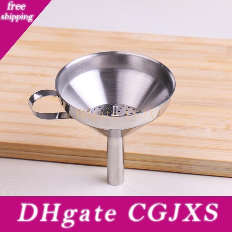 Caliente de 4 pulgadas embudo de acero inoxidable 304 con herramientas desmontable colador de cocina embudos gratuito de envío Lx8212