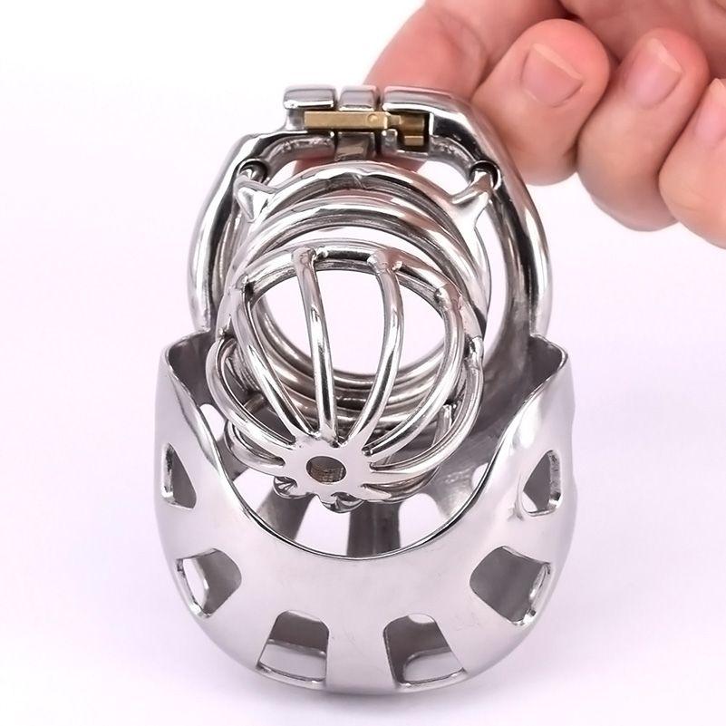 Dispositivo de castidad masculino con anillo de pene arco de acero inoxidable jaulas de pájaros longas de juguete de sexo esclavo para hombres